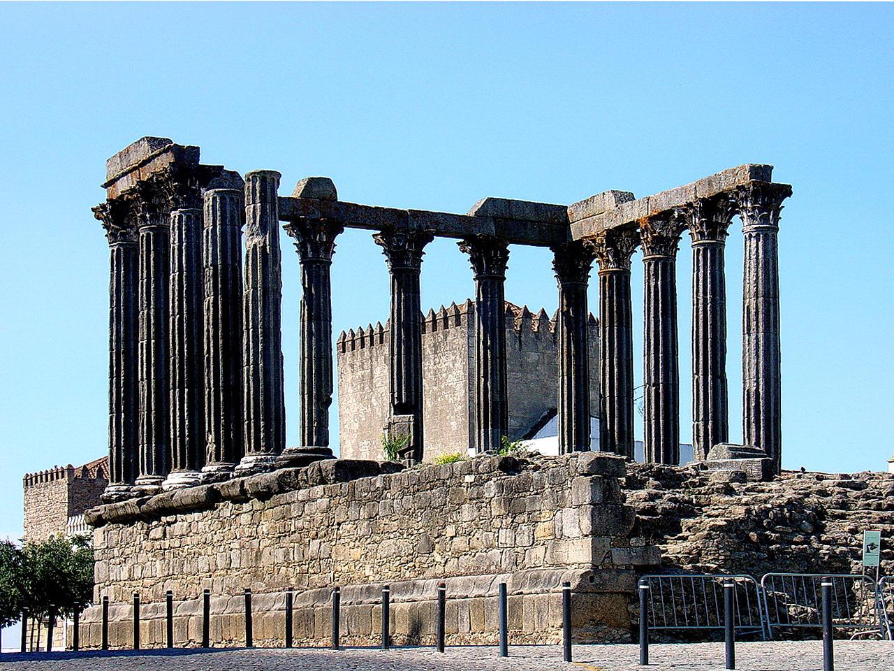The Roman Temple of Évora