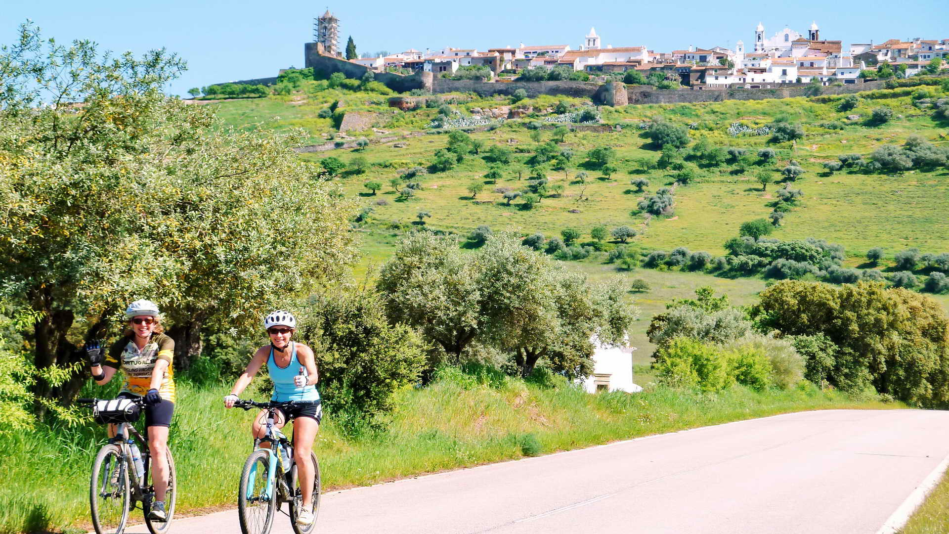 Cycling in Portugal Alentejo region with Portugal Bike Tours