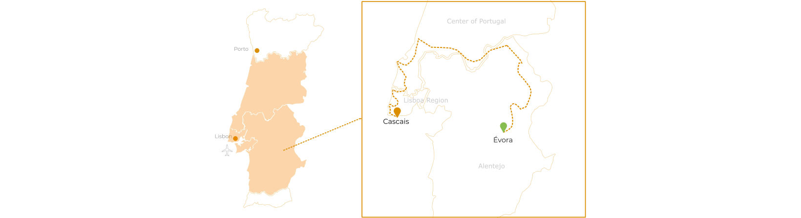 Jewels of Portugal Bike Tour route map