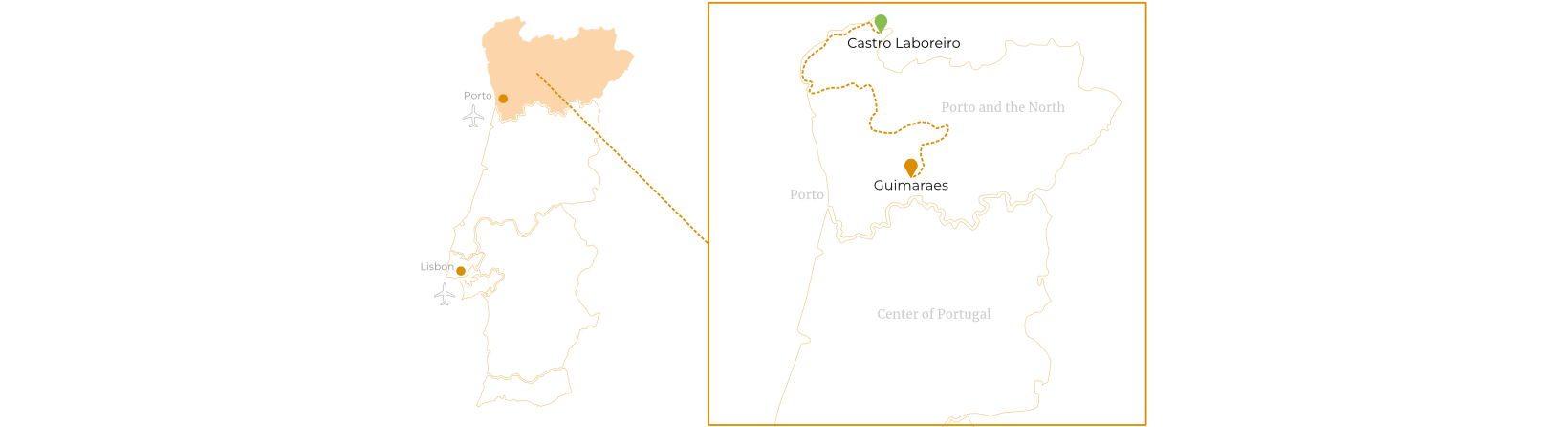 The Beautiful North of Portugal Route Map