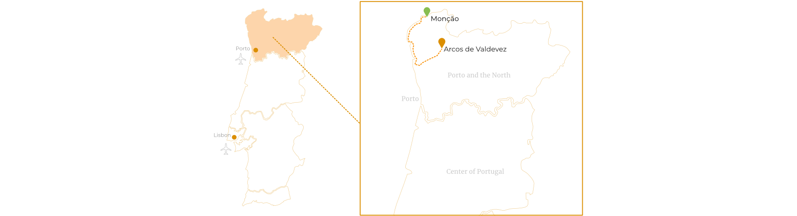 Historic Towns in the North Route Map