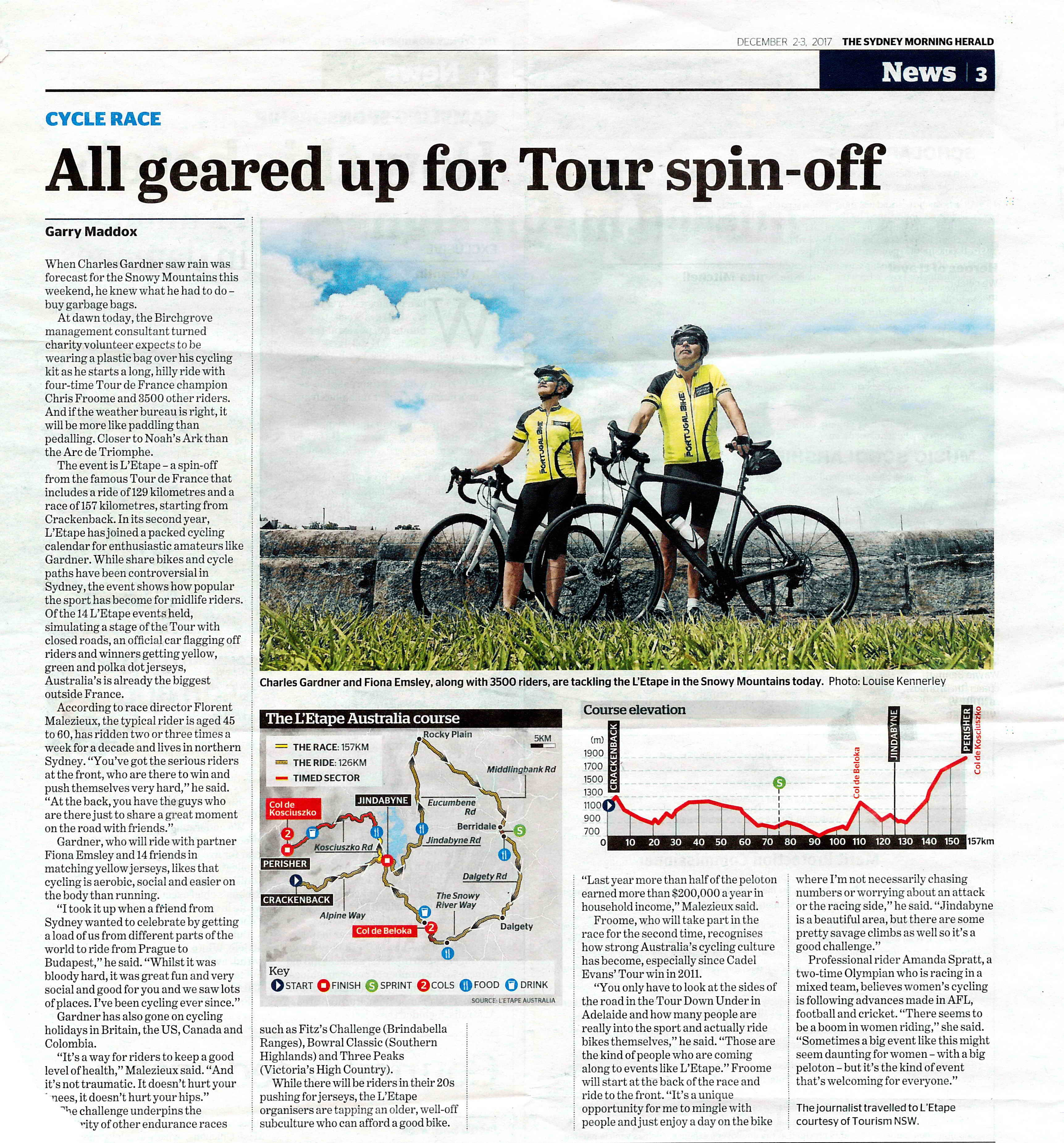 Portugal Bike jerseys on the Sydney Herald