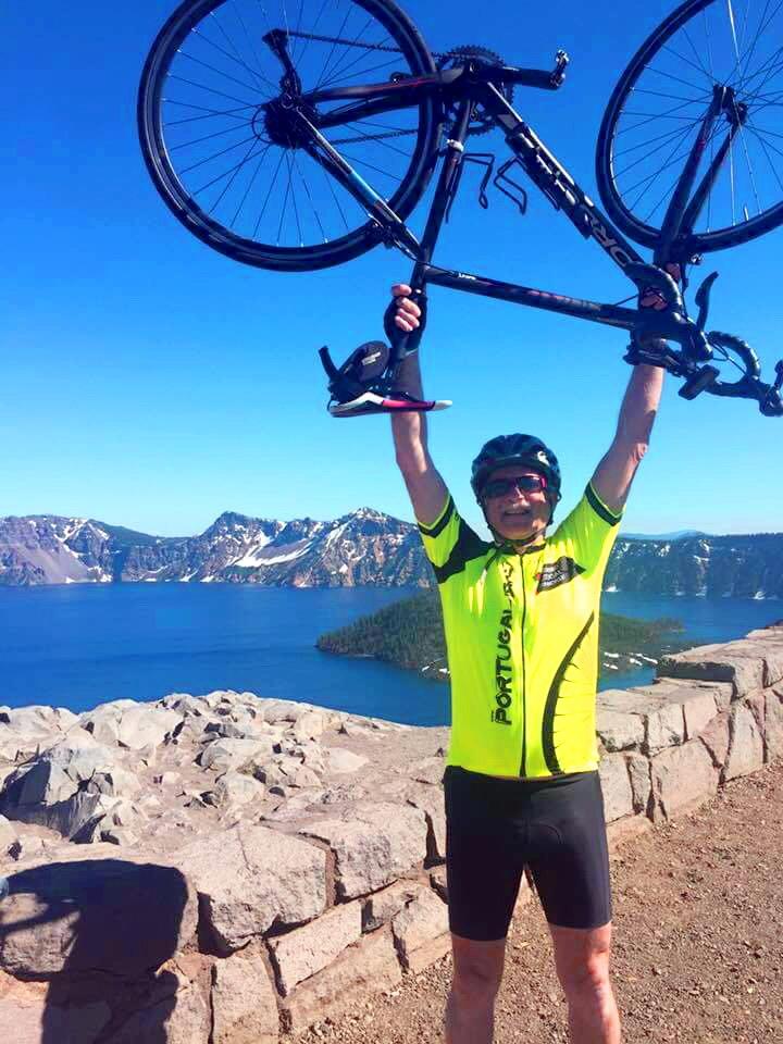Portugal Bike Tours jersey at Crater Lake