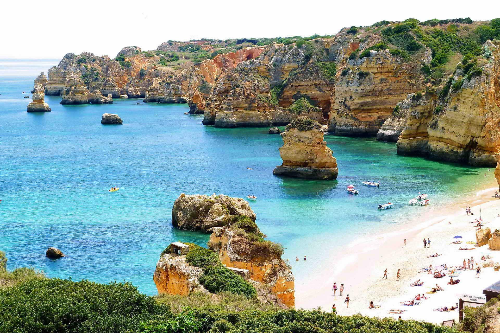 Portugal Bike Tours in Financial Times Dona Ana Beach, Biking in Portugal