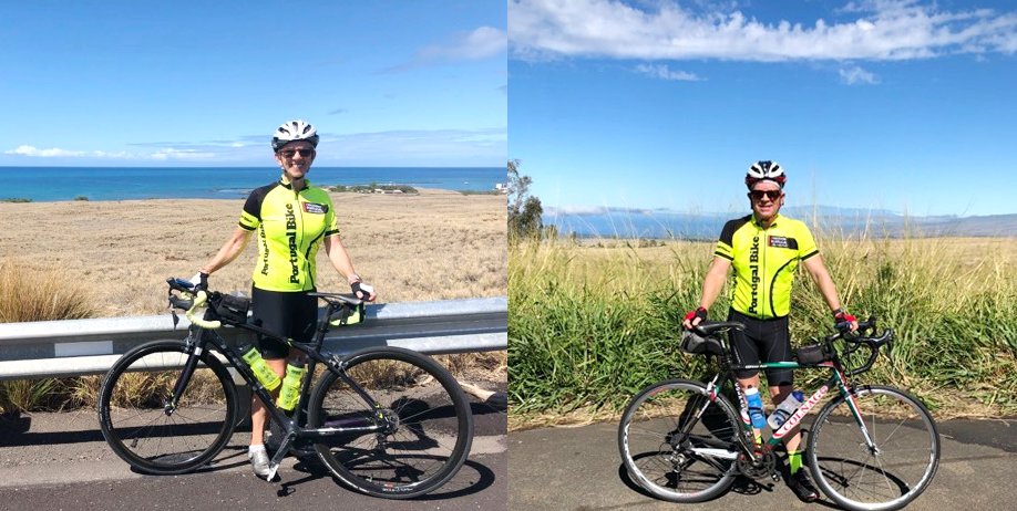 Loving our bike jerseys, cycling Hawaii