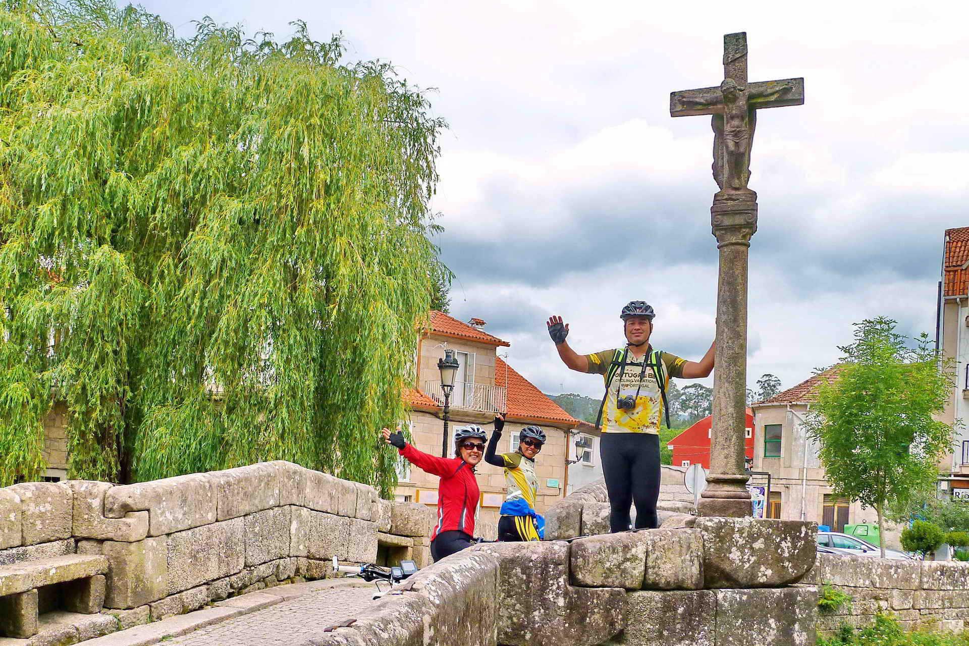 Cycling the Camino de Santiago, ancient roman bridgeCycling the Camino de Santiago, ancient roman bridge