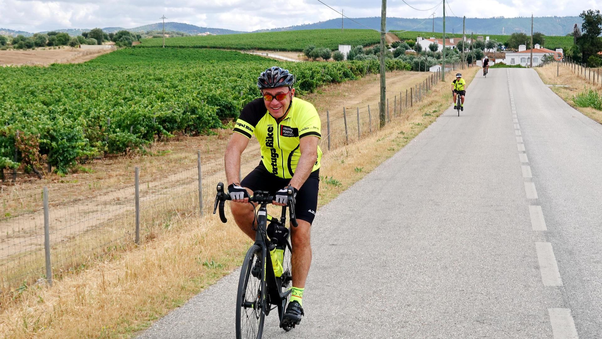 Cycling the Alentejo Wine Region vineyards Open Views